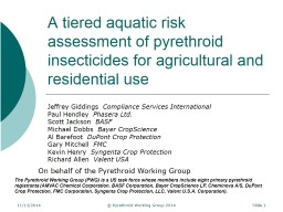 A tiered aquatic risk assessment of pyrethroid insecticides for