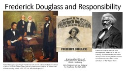 Frederick Douglass and Responsibility