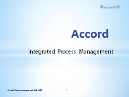 Accord Integrated Process Management