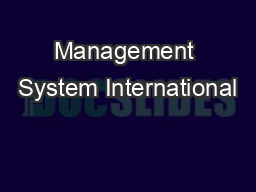 Management System International
