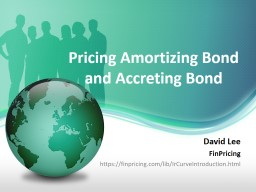 Pricing Amortizing  Bond and Accreting Bond