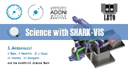 Science with SHARK-VIS S.