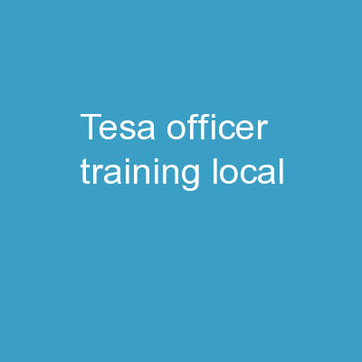 TESA Officer Training Local