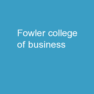 Fowler  College  of  Business