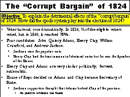 The �Corrupt Bargain� of 1824
