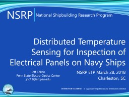 Distributed Temperature Sensing for Inspection of Electrical Panels on Navy Ships