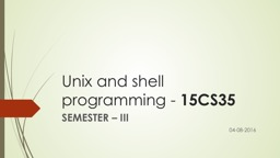 Unix and shell programming -