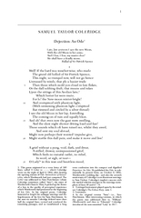 SAMUEL TAYLOR COLERIDGE Dejection An Ode Late late yes