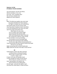 Dejection An Ode BY SAMUEL TAYLOR COL ERIDGE Late late
