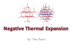 By 'The Team' Negative Thermal Expansion