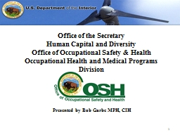 Office of the Secretary Human Capital and Diversity