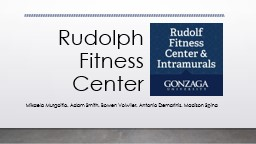 Rudolph Fitness Center Mikaela