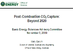 Post-Combustion CO 2  Capture: