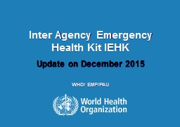 Inter Agency Emergency Health Kit