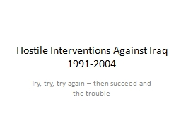 Hostile Interventions Against Iraq PowerPoint PPT Presentation
