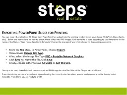 Exporting PowerPoint Slides for Printing