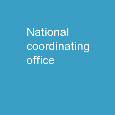 National Coordinating Office