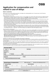 Application for compensation and refund in case of delays