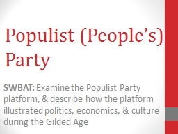 Populist (People�s) Party