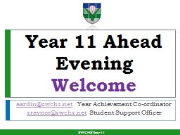 Year 11 Ahead Evening Welcome