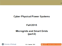 Cyber Physical Power Systems