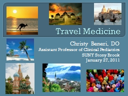 Travel Medicine Christy