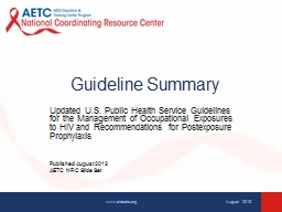 Guideline Summary Updated