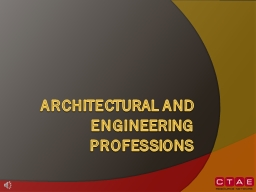Architectural and Engineering Professions