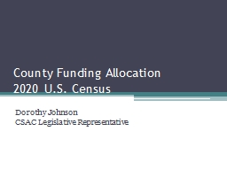 County Funding Allocation