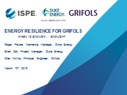 Energy Resilience for Grifols