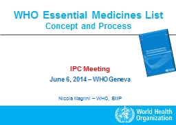 WHO Essential Medicines List