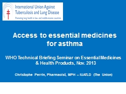 Access to essential medicines