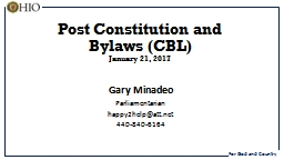 Post Constitution and Bylaws (CBL)