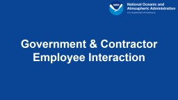Government & Contractor Employee Interaction