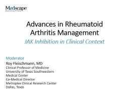 Advances in Rheumatoid  Arthritis Management