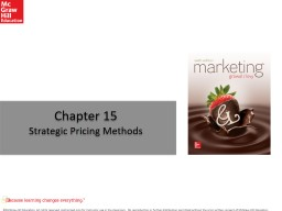Chapter 15 Strategic Pricing Methods