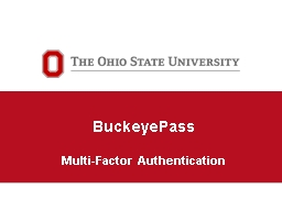 BuckeyePass Multi-Factor
