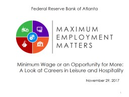 Minimum Wage or an Opportunity for