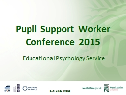 Pupil Support Worker Conference 2015