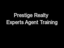 Prestige Realty Experts Agent Training