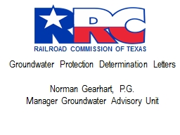 Groundwater Protection Determination Letters