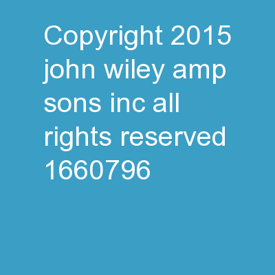 Copyright � 2015 John Wiley & Sons, Inc. All rights reserved.