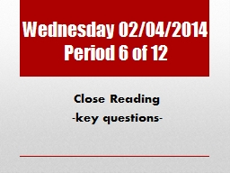 Wednesday 02/04/2014 Period