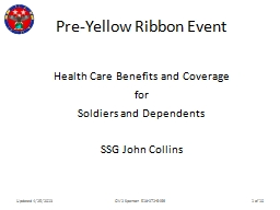 Pre-Yellow Ribbon Event Health Care Benefits and Coverage