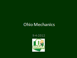 Ohio Mechanics 9 -4-2012