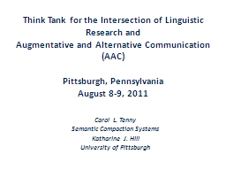 Think Tank for the Intersection of Linguistic Research and