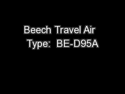 Beech Travel Air  Type:  BE-D95A