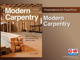 Chapter 22 Cabinetry Identify the different types of cabinets used in homes. PowerPoint PPT Presentation