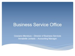 Business Service Office Graciano