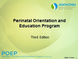 Third Edition Perinatal Orientation and